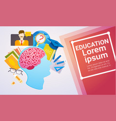 Education online learning web banner vector