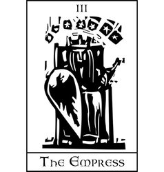 Empress Tarot Card vector
