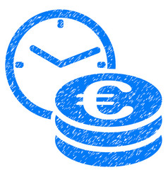 euro credit grunge icon vector image