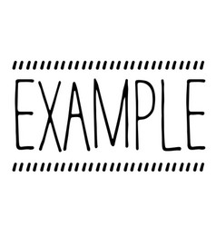 example stamp on white vector image