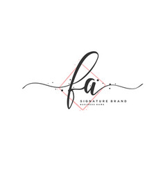 F a initial letter handwriting and signature logo vector