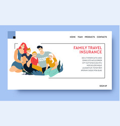 family travel insurance providing security vector image