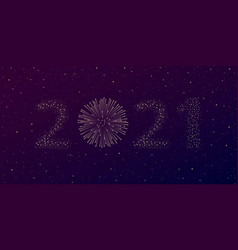 firework 2021 new year concept vector image