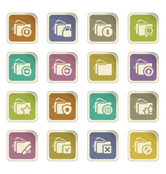 Folders icons set vector