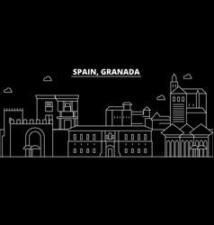 Granada silhouette skyline spain - granada vector