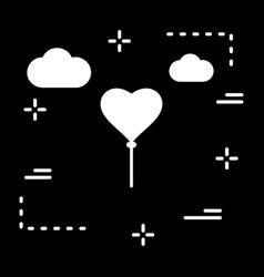 Heart ballon icon vector