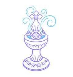 Incense burner icon vector