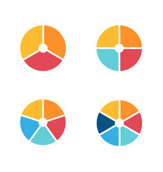 infographic circle icon set flat style vector image