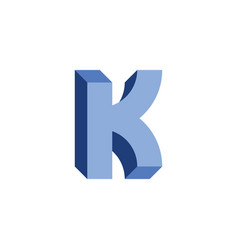 Letter k 3d optical icon vector