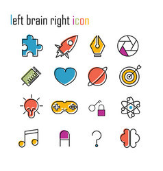 Line icons brain icon modern infographic logo vector