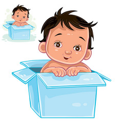 little baby with swarthy vector image