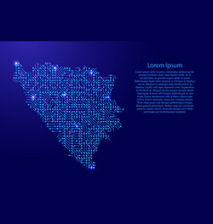 map bosnia and herzegovina from printed board vector image