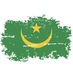 Mauritania grunge flag vector