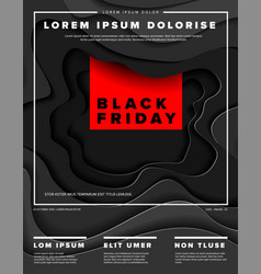 modern black friday flyer template vector image
