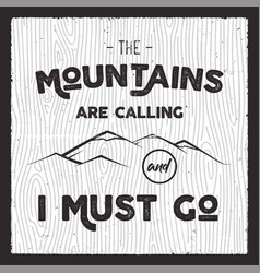 Mountain poster in retro silhouette style with vector