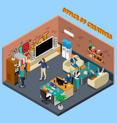 office of creatives isometric vector image