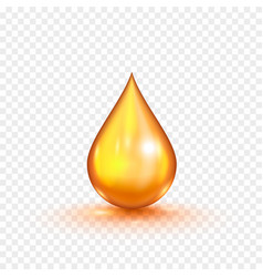 Oil gold bubble isolated vector
