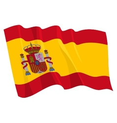 Political waving flag of spain vector