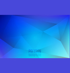 polygon abstract background blue triangles mosaic vector image