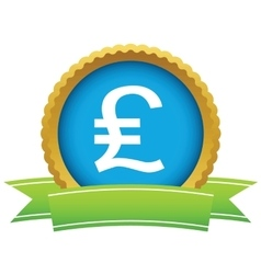 Pound sterling round icon vector