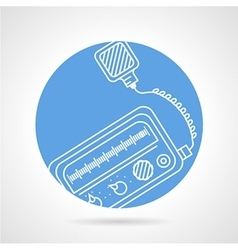 Radio transceiver round icon vector image