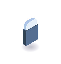 school eraser isometric icon vector image