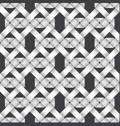seamless pattern of intertwined ribbons vector image