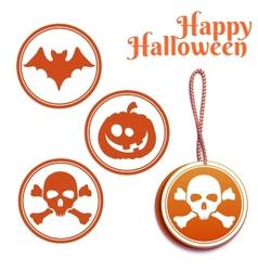 set of Halloween tags vector image