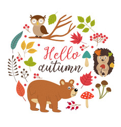 set of isolated autumn elements part 2 vector image