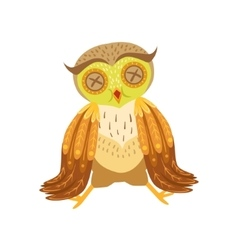 Sick Owl Cute Cartoon Character Emoji With Forest vector