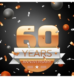 Sixty years anniversary celebration background vector
