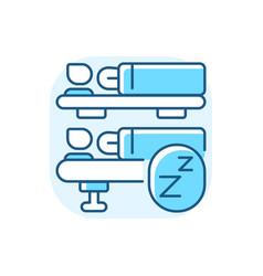 Sleeping car blue rgb color icon vector
