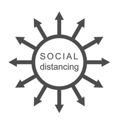 Social distancing icon keep distance sign vector