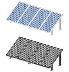 Solar panel without outline and black fill vector