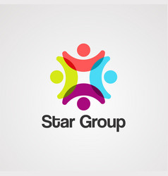 star group logo iconelement and template vector image