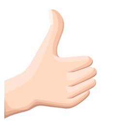 thumbs up icon flat up icon flat design vector image