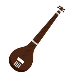 Traditional indian sarod icon isolated vector