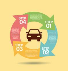 Transport service infographic scheme vector