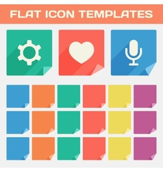 Trendy Flat App Icon Templates With Different vector image vector image