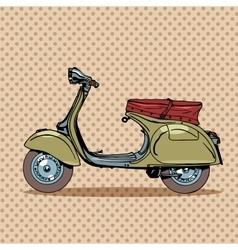 Vintage scooter retro transport vector