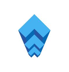 geometric staircase architectural bureau logo vector image