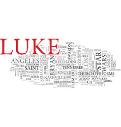 luke word cloud concept vector image vector image