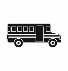 School bus icon simple style vector image