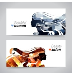 Set of banners with magazine snippets collage vector image