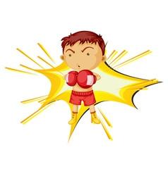 Boxing boy vector image