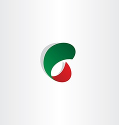 c letter c gradient red and green icon logo vector image