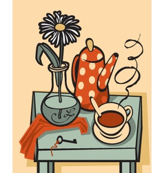 tea still life vector image