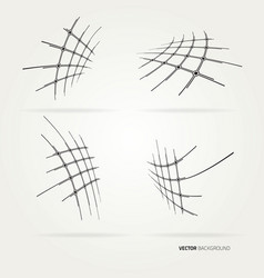 abstract technological network vector image vector image