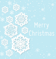 christmas greeting card in vector image vector image