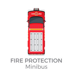 fire protection minibus means of transportation vector image